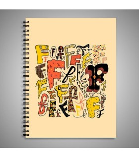 f art printed notebook