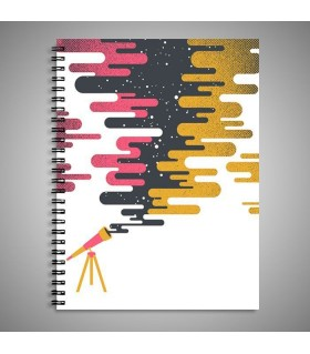 telescop art printed notebook