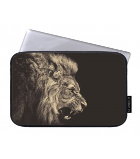 angry lion art printed laptop sleeves