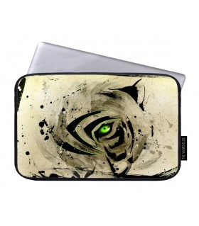 green eye art printed laptop sleeves