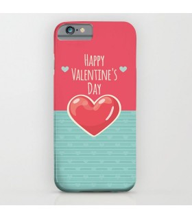 happy valentine's day heart printed mobile cover