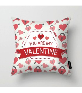 you are my valentine printed pillow