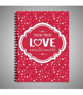 your true love printed notebook