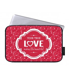 your true love printed laptop sleeves