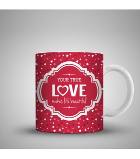your true love printed mug