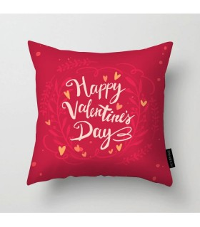 HAPPY VALENTINE'S DAY floral printed pillow