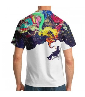 night smoke all over printed t-shirt