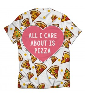about is pizza all over printed t-shirt