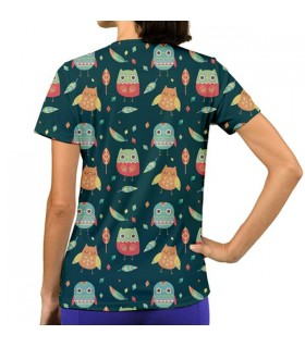 CUTE BIRDS ALL OVER PRINTED T-SHIRT