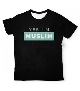 Yes I M Muslim UNISEX ALL-OVER PRINT T-SHIRT