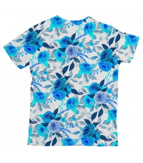 Blue Floral UNISEX ALL-OVER PRINT T-SHIRT