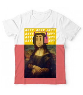 Mona Lisa Swag UNISEX ALL-OVER PRINT T-SHIRT