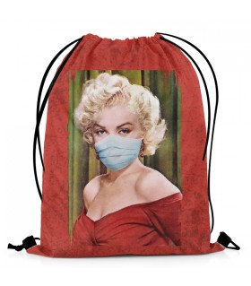 Masked Marilyn Monroe Aestheticos DRAWSTRING BAG