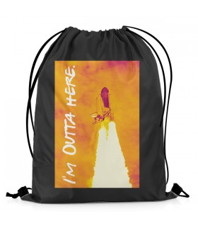 I'm Outta Here Aestheticos DRAWSTRING BAG