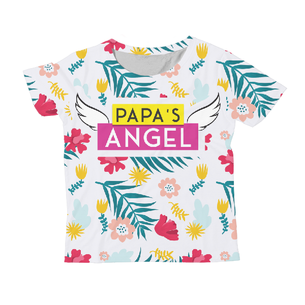Papa's Angel KIDS ALL-OVER PRINT T-SHIRT
