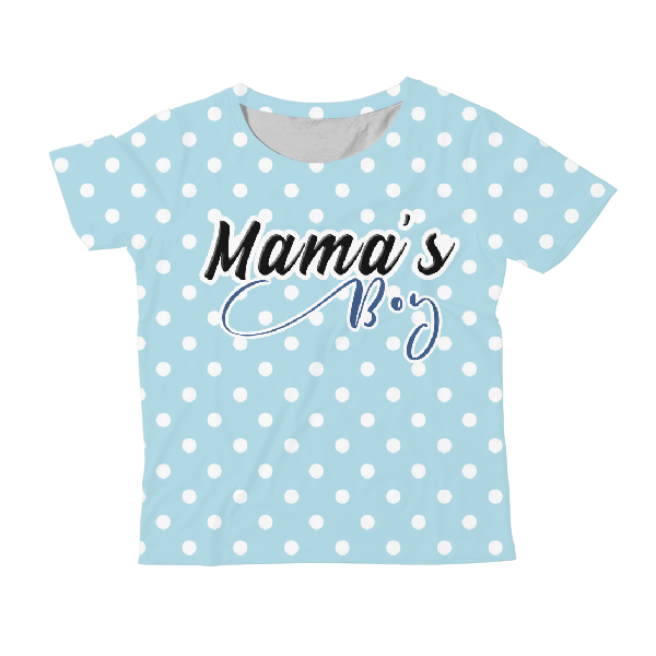 Mama'S Boy Kids All-Over Print T-Shirt