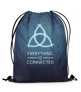 Dark Everything Is Connected DRAWSTRING BAG