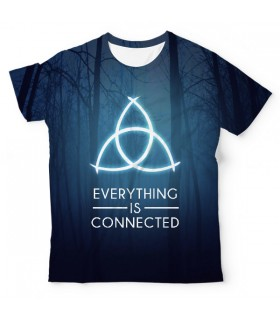 Dark Everything Is Connected UNISEX ALL-OVER PRINT T-SHIRT