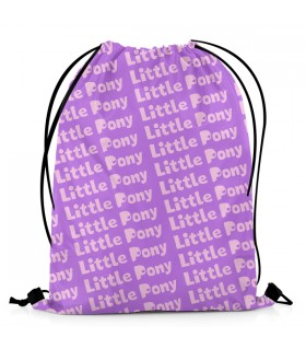 My Little Pony pattern DRAWSTRING BAG