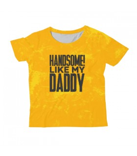 Handsome Like My Daddy KIDS ALL-OVER PRINT T-SHIRT
