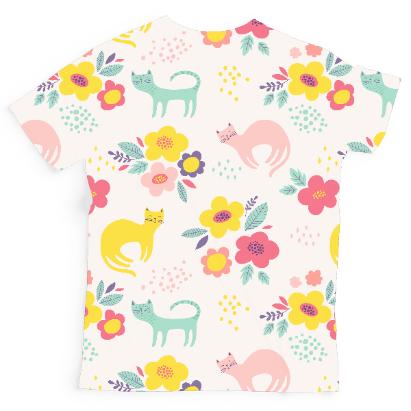 Floral Pattern Kids All-Over Print T-Shirt