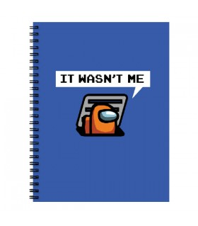 Orange Sus Among Us NOTEBOOK