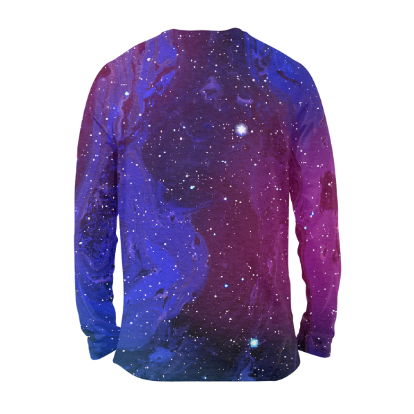 Purp And Blue Galaxy Full Sleeves T-Shirts
