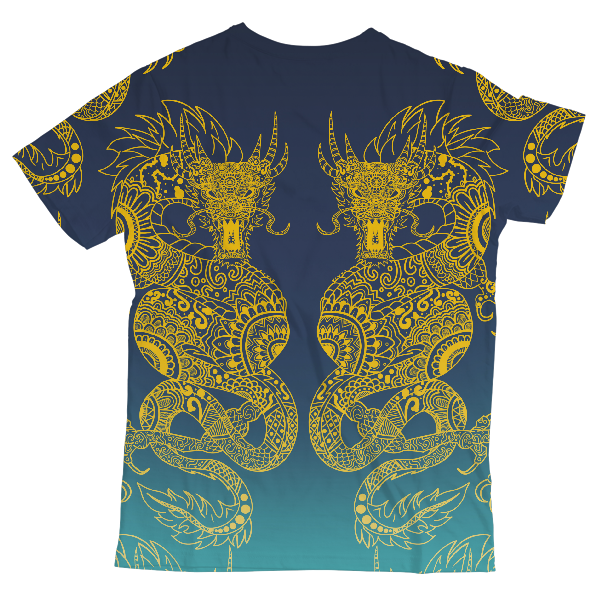 Twin Dragons Unisex All-Over Print T-Shirt