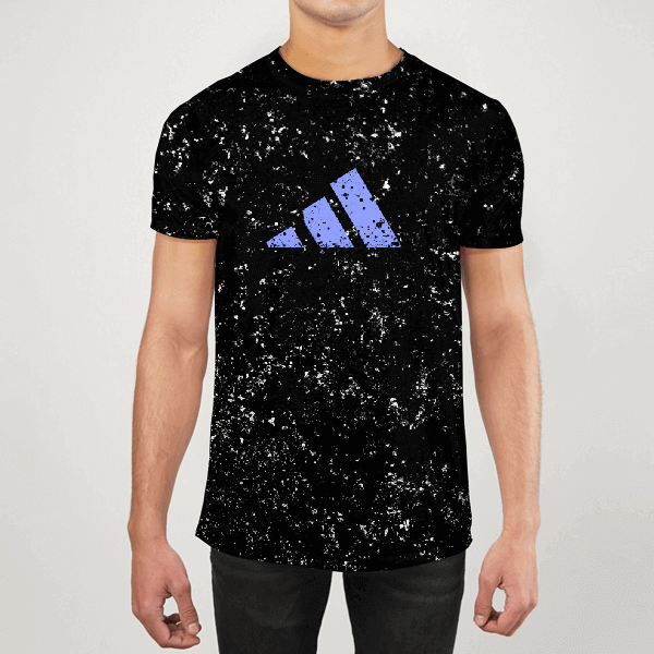 Adidas Black Alpha Men ALL-OVER PRINT T-SHIRT