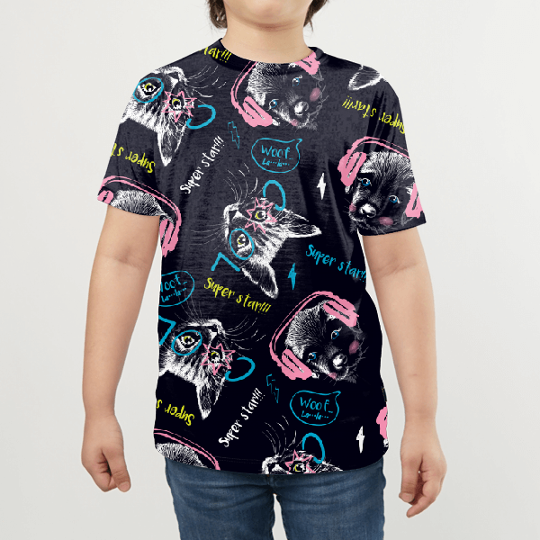 Cats And Doggos KIDS ALL-OVER PRINT T-SHIRT