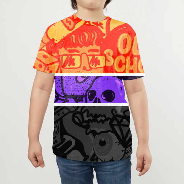 Hip Hop For Life Remastered KIDS ALL-OVER PRINT T-SHIRT