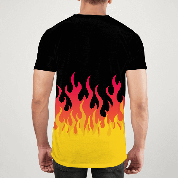 Black Flamer Men ALL-OVER PRINT T-SHIRT