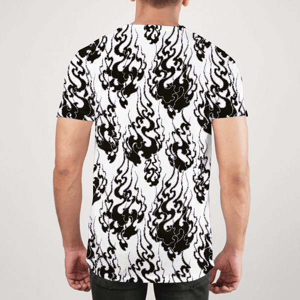 Flames All Over Black Men ALL-OVER PRINT T-SHIRT