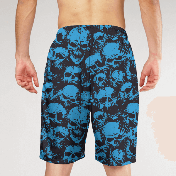 Blue Skull MEN SHORTS