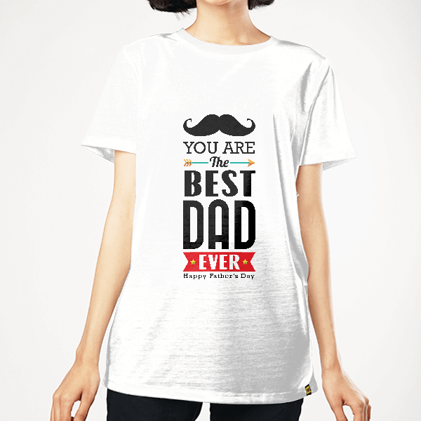 The Best Dad Ever WOMEN GRAPHIC T-SHIRT