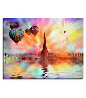air balloon digital canvas FRAME