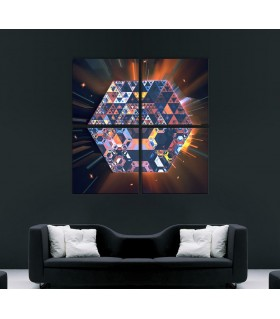 Set of 4 Psychedelic Art Canvas frames