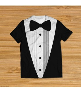bow tie all over printed t-shirt