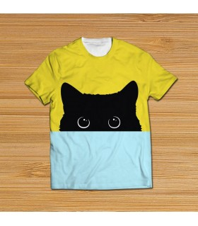 cat all over printed t-shirt