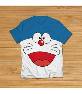 doraemon all over printed t-shirt