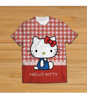 hello kitty all over printed t-shirt