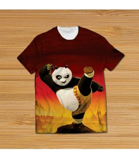 kung fu panda all over printed t-shirt