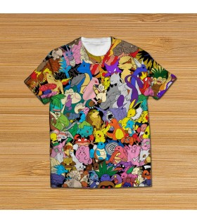 pokemon all over printed t-shirt