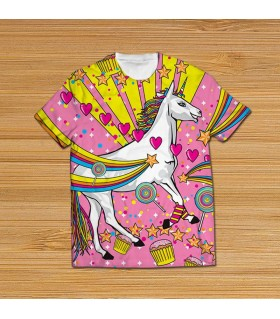pony all over printed t-shirt
