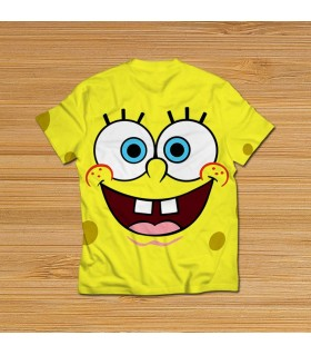 spanch bob all over printed t-shirt