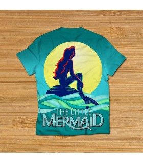 the little mermaid all over printed t-shirt