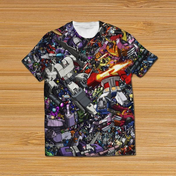 transformers all over printed t-shirt