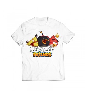 angry birds printed graphic t-shirt