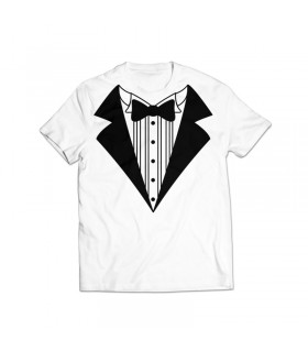 bow tie printed graphic t-shirt