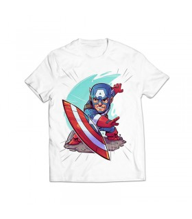 captain america printed graphic t-shirt
